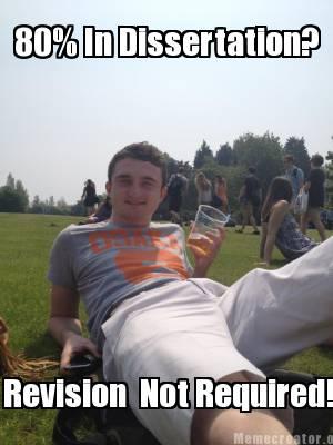 Dissertation revisions