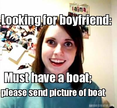 Looking for a boyfriend