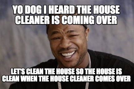 Meme Creator - Yo dog i heard the house cleaner is coming ...