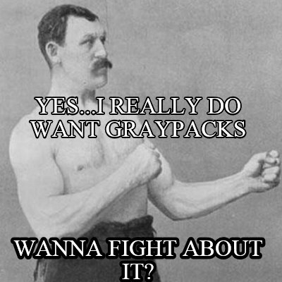 Meme Creator - yes...I really do want graypacks wanna fight about it ... Yes Really Meme